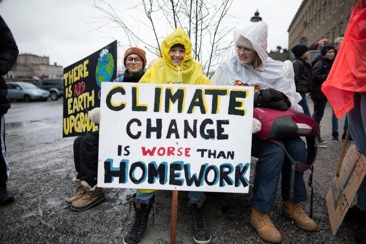 Students Rally To Protest Against Inaction on Climate Change